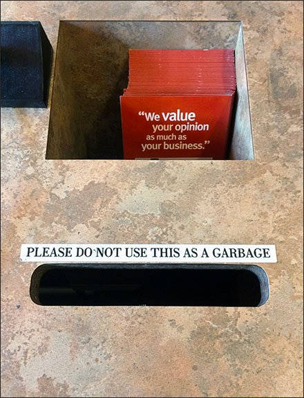 Your Opinion Is Not Garbage Says Wegman's