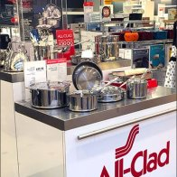 All Clad Branded Island Cookware Display 2
