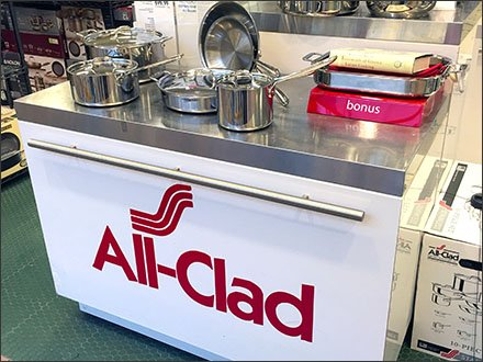All-Clad® Branded Cooking Island Display
