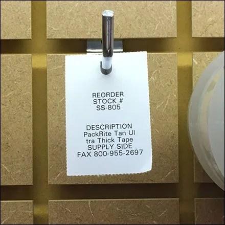 Back-Tagging Patterned Perimeter Slatwall
