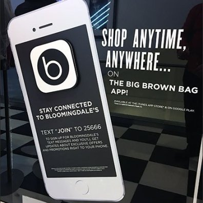 Bloomingdale's Connected By App and Text