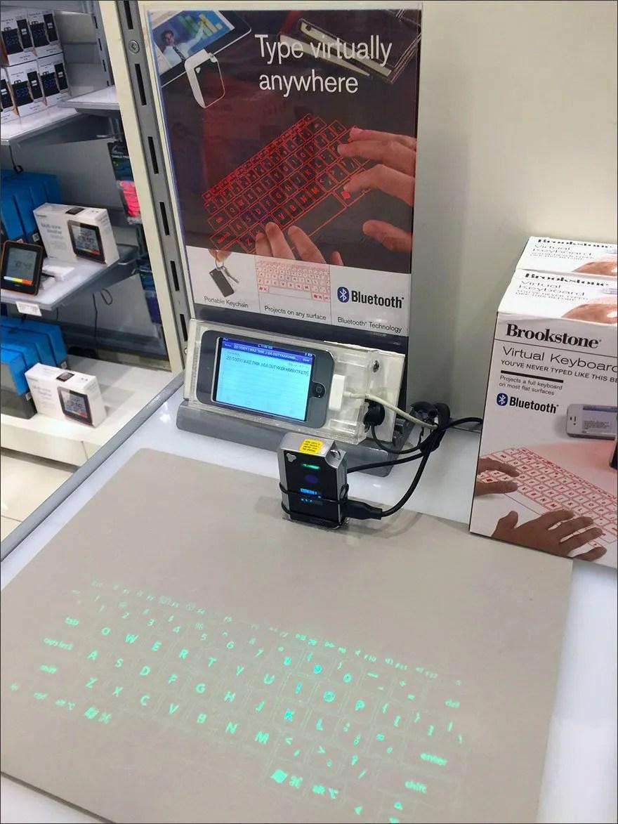 Brookstone 174 Virtual Keyboard Point Of Purchase Display