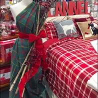 Christmas Flannel as Dress Form Sari