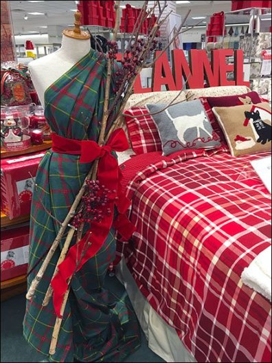 Christmas Flannel as Dress Form Sari