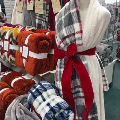 Christmas Plush as Dress Form Sari