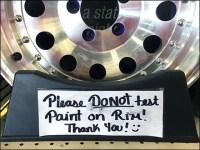 Do Not Spray Paint Chrome Rims