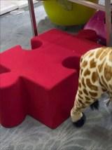 Puzzle Merchandising Display - Plush Puzzle Pieces in Retail