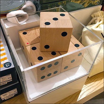 Giant Dice Promote Game Sales