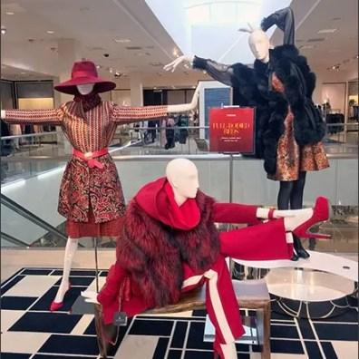 Mannequins Strike Selfie Poses
