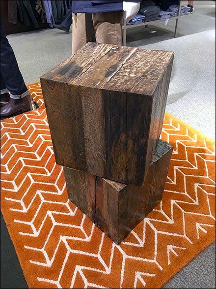 Naked Natural Wood Cube Props