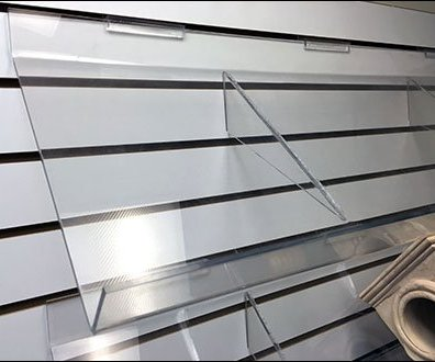 Outwater Plastics Declined Acrylic Shelves 2