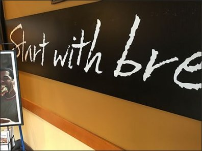 Panera Bread® Starts With Chalkboard