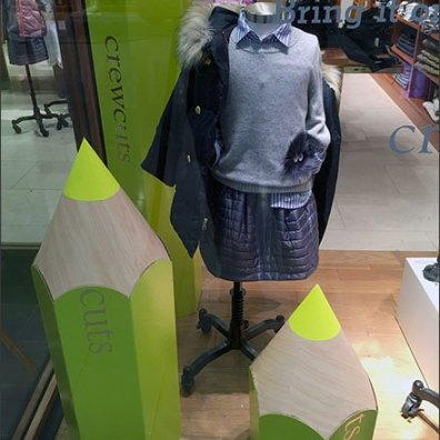 Giant School Pencil Propping in Retail