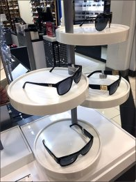 Merchandising Sunglasses on a Platter