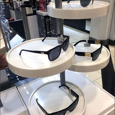 SUNGLASSES MERCHANDISED ON A PLATTER 2