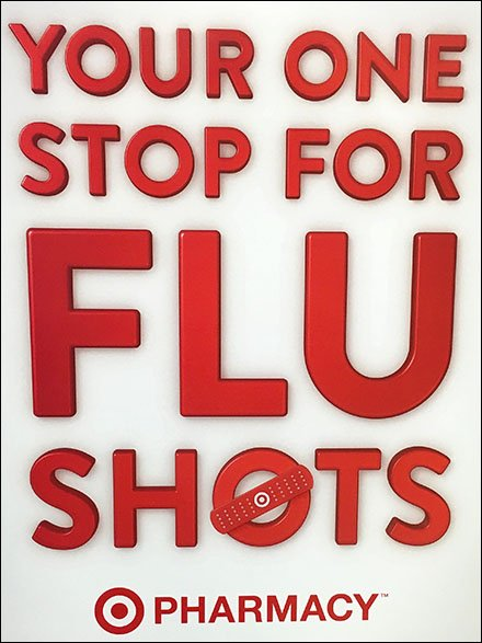 Target One Stop for Flu Shot Vertical Sign 2