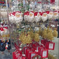 Triangular Grid Christmas Ornament Display 2