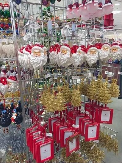 Triangular Grid Christmas Ornament Display 2