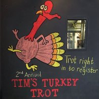 Turkey Trot Thanksgiving Chalkboard
