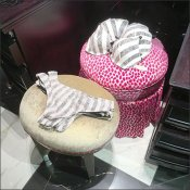 Victoria's Secret Hassock Outfitting and Staging