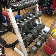 Floor-Stand Bar Bell Merchandising Rack