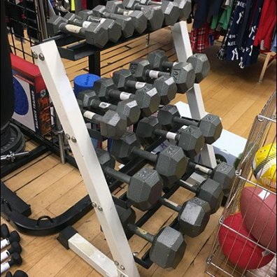 Floor-Stand Bar Bell Merchandising Rack