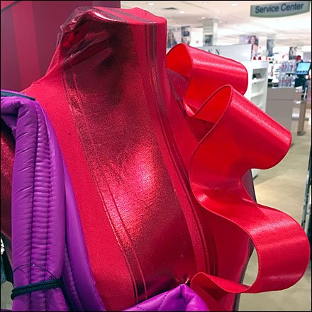 Be-Ribboned Red Satin Dress Form