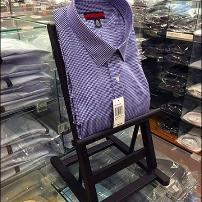 Checkered Dress Shirt Display Ease