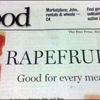 Grapefruit Raprfruit Newspaper Ad