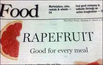 Grapefruit Raprfruit Newspaper Ad