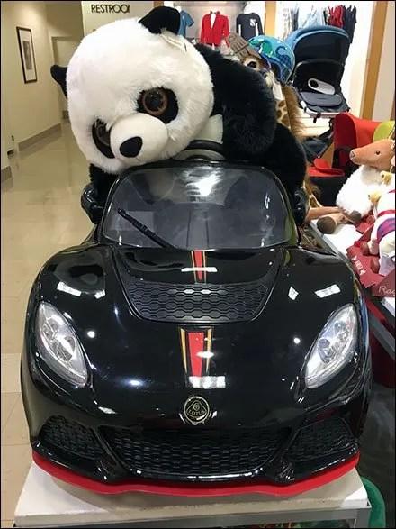 Plush Panda Pedals Lotus Sportscar