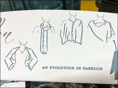 Papillon Markets Fashion Look Illustrations In-Store