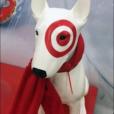 Target Bullseye Mascot Scarf Angled