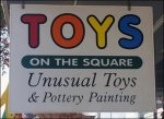 Toys on the Square Sign