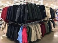 Massively Merchandised Warehouse Club Coat Rack