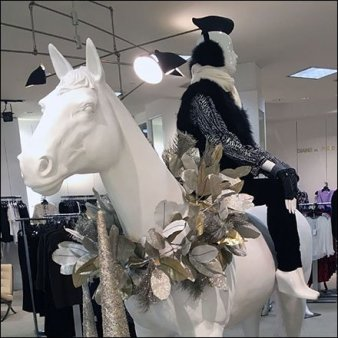 Winter Equestrian Attire at Saks