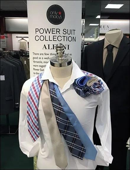 Alfani Necktie Rollups as Epaulette