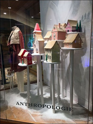 Anthropologie Christmas Village on Pedestals 1