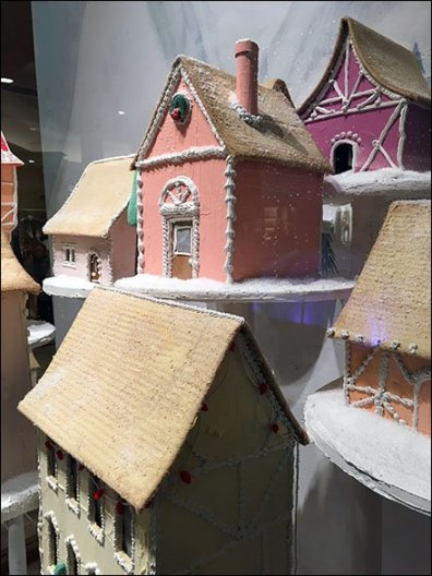 Anthropologie Christmas Village on Pedestals 3