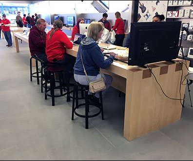 Apple Dovetail Tables In-Store