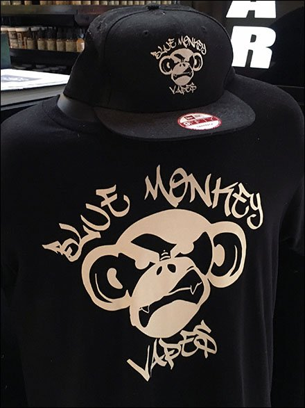 Blue Monkey Branded Teeand Cap