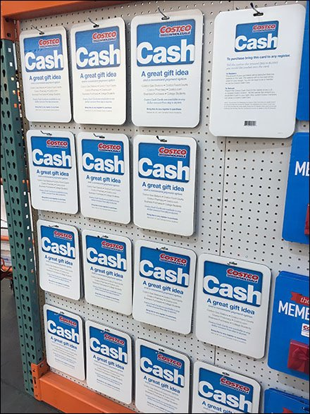 1000 Costco Cash Gift On Sale Fixtures Close Up