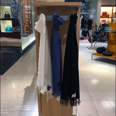 Scarves on Simple Display Hooks