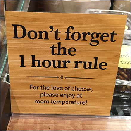 Don't Forget The 1 Hour Cheese Rule