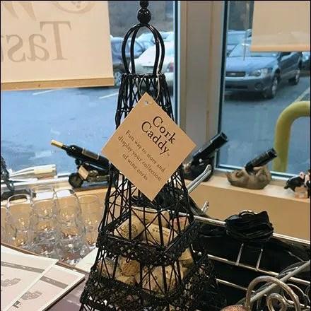 Eiffel Tower Cork Caddy Window Display