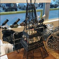 Eiffel Tower Cork Caddy Window Display
