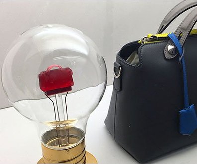 Fendi Miniature Purse Lightbulb Display
