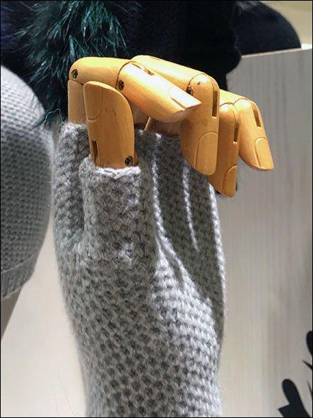 Fingerless Glove Handforms CloseUp