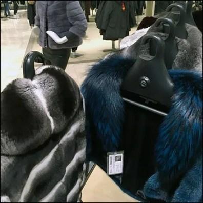 Fur Swind-Away Clothes Hangered Rack 3