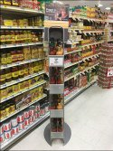 Wing Sauce Gravity-Feed Tower Display
